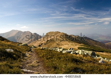 Autumn in Mala Fatra mountains, Slovakia - stock photo