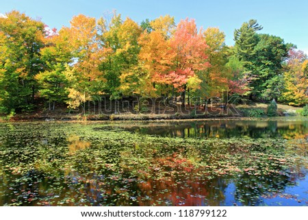 Autumn in Quebec - stock photo