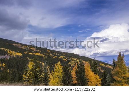Autumn in the Colorado Rocky Mountains - stock photo