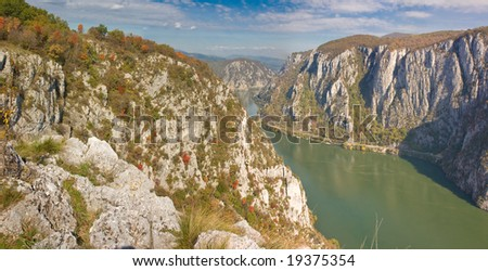 Autumn in the Danube Gorges, Romania.