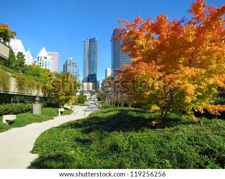 autumn in Vancouver, Canada - stock photo