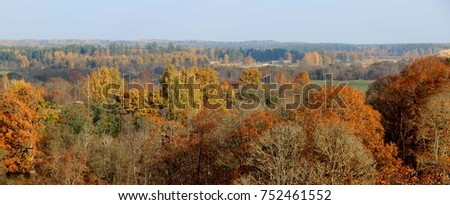 Autumn landscape, Latvia
