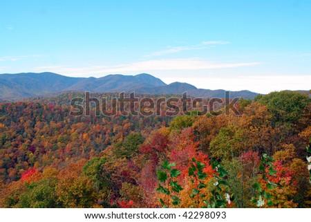 autumn mountains - stock photo