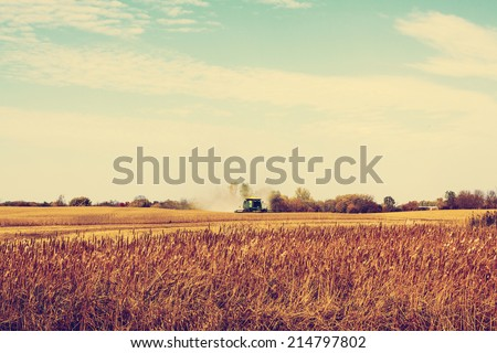 Autumn on American Farm - stock photo