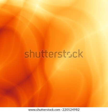 Autumn orange sun beam abstract web card design - stock photo