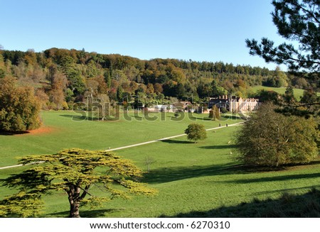 Autumn over an Historic English Country Estate and Deer Park