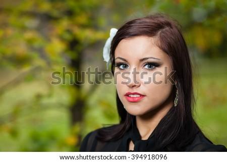 Autumn portrait. - stock photo