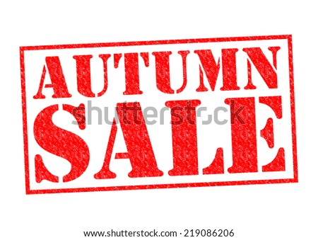 AUTUMN SALE red Rubber stamp over a white background.