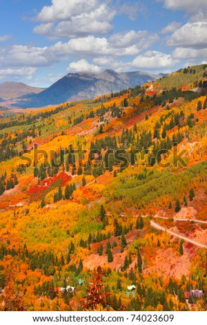 Autumn scene in Colorado - stock photo