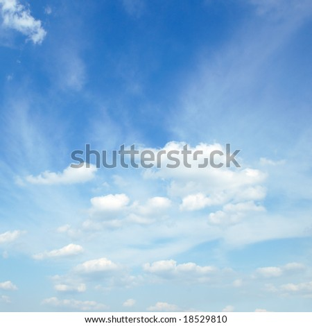 autumn sky covered with white clouds
