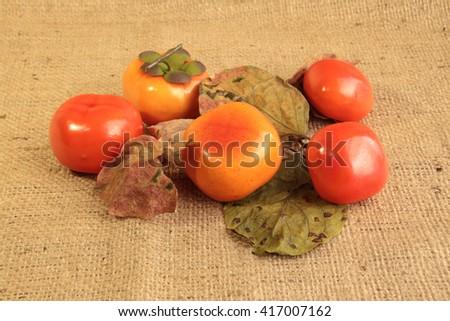 Autumn still life with fruit. - stock photo