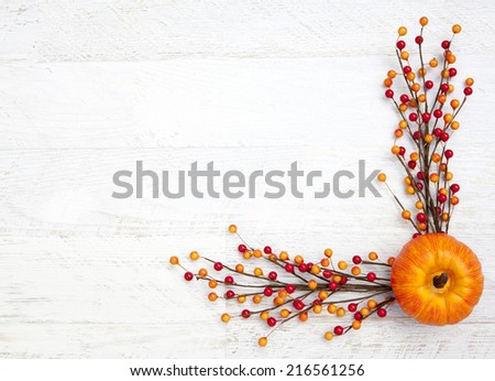 Autumn Thanksgiving Background - stock photo