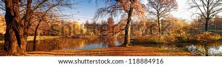 Autumnal park - stock photo