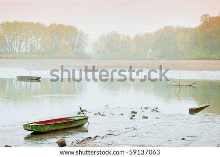 autumnal pond, Czech Republic - stock photo