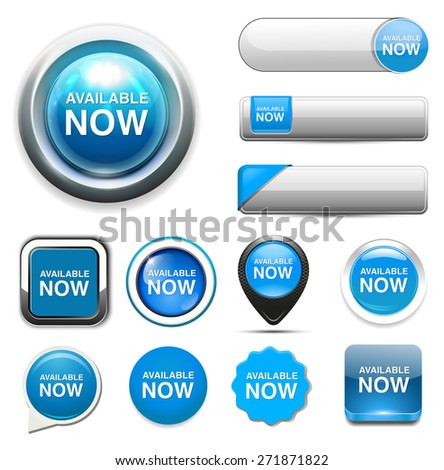 available now button - stock photo
