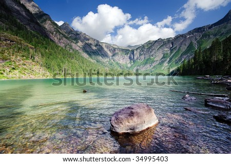 Avalanche Lake - stock photo