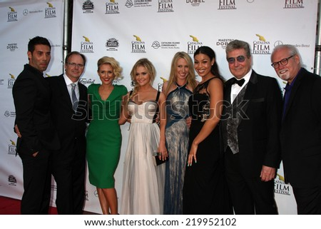 "AVALON - SEP 26:  Left Behind Cast at the ""Left Behind"" Screening at the Catalina Film Festival at Casino on September 26, 2014 in Avalon, Catalina Island, CA"