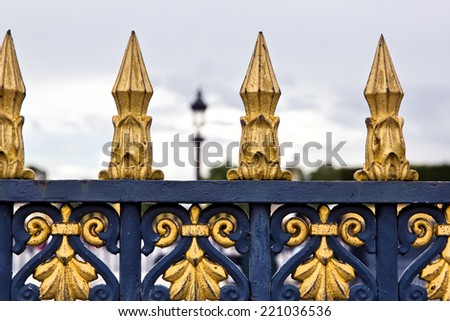 Avenue of Champs Elysees with arc of triumph at the end, from Concorde Square - stock photo