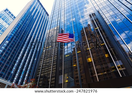 Avenue of the Americas 6th Av Manhattan New York city US - stock photo
