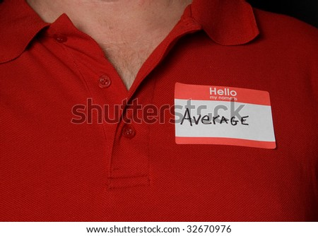 Average - stock photo