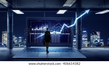 Average marketing report - stock photo