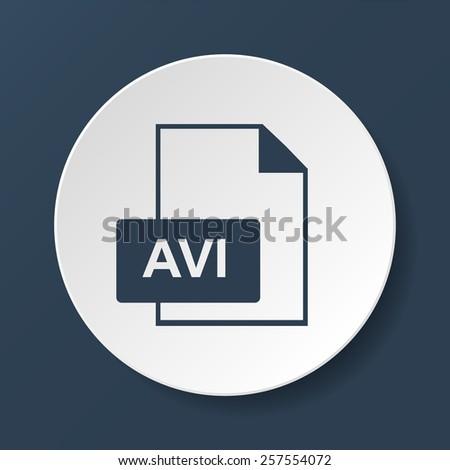 avi file icon.  - stock photo