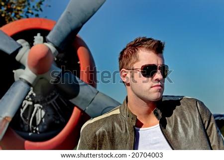 aviator - stock photo