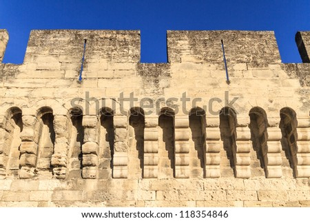 Avignon Medieval City Wall / Fortifications, Provence, France