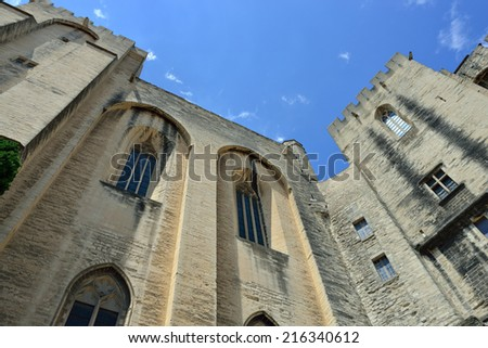 Avignon. View on Popes Palace (Palais des Papes), Provence, France  - stock photo