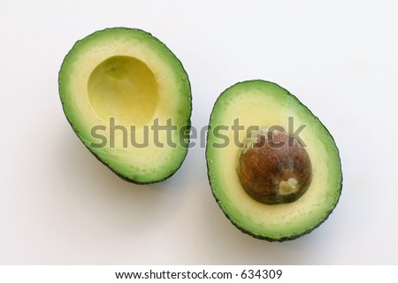 Avocado Halves - stock photo