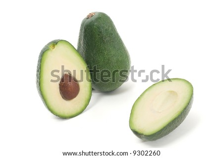 avocado isolated on a white