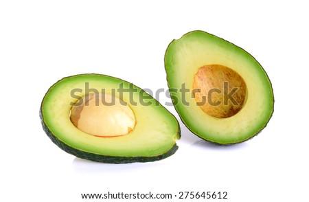 Avocado isolated on the white background. - stock photo
