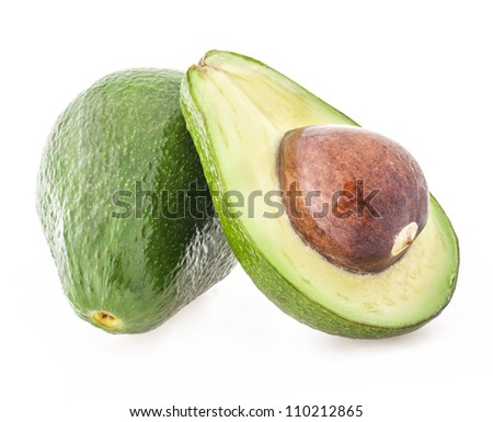 Avocado isolated on white background