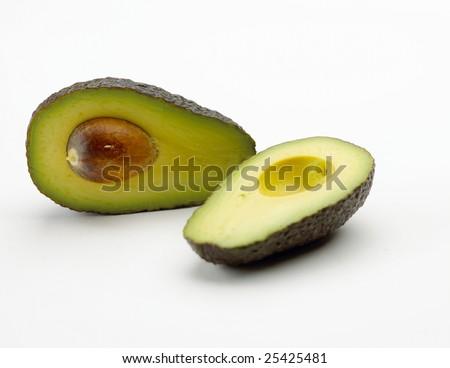 Avocado isolated on white background - stock photo