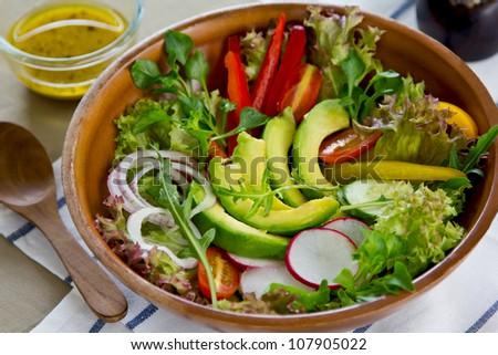 Avocado salad - stock photo