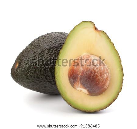 Avocado vegetable isolated on white background - stock photo