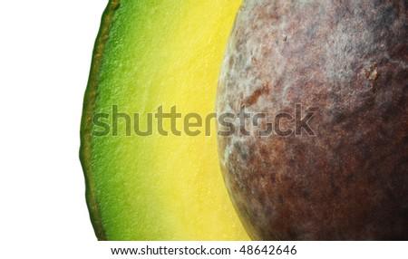 Avocado with seed (macro) - stock photo