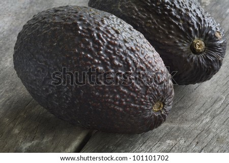 Avocados, close up