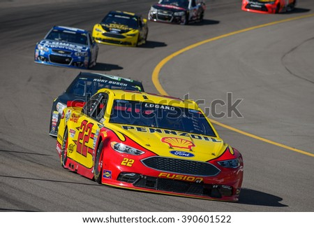 AVONDALE, AZ - MAR 13: Joey Logano at the NASCAR Sprint Cup Good Sam 500 race at Phoenix International Raceway in Avondale, AZ on March 13, 2016