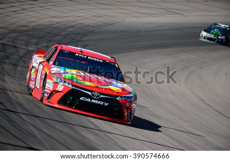 AVONDALE, AZ - MAR 13:Kyle Busch at the  NASCAR Sprint Cup Good Sam 500 race at Phoenix International Raceway in Avondale, AZ on March 13, 2016