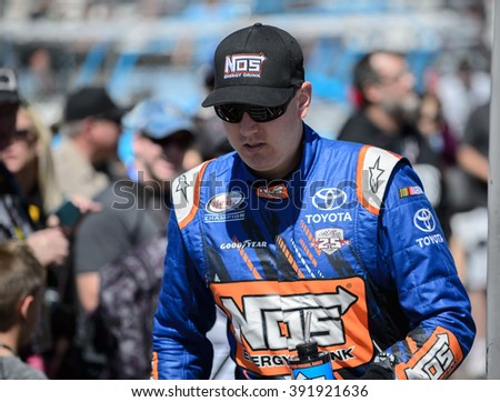 AVONDALE, AZ - MAR 11: Kyle Busch at the NASCAR Xfinity Series Axalta 200 at Phoenix International Raceway in Avondale, AZ on March 11, 2016