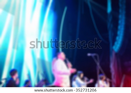 Award ceremony theme creative abstract blur background with bokeh effect - stock photo