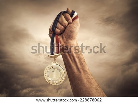 Award of Victory - stock photo