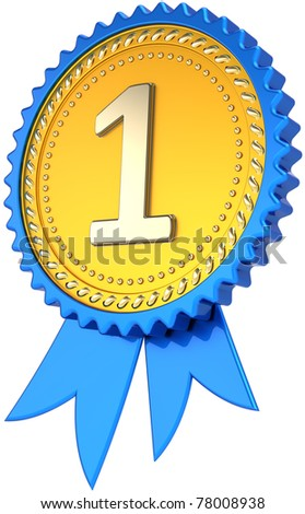 Award ribbon golden badge first place stock illustration for 1st prize ribbon template