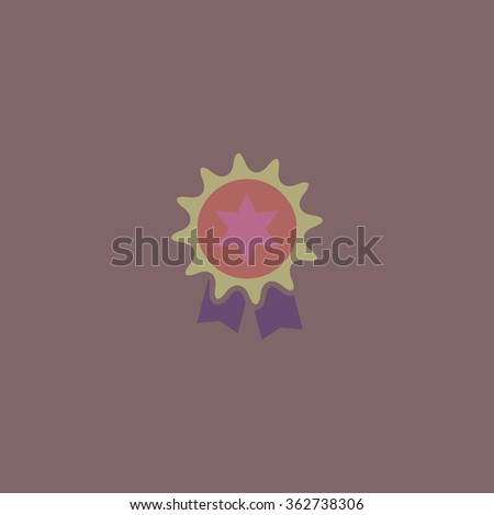 Award. Simple flat color icon on colorful background - stock photo