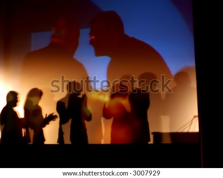 Awards Show Abstract - stock photo