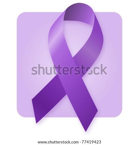 Awareness Ribbon - Alzheimer's Disease - stock photo