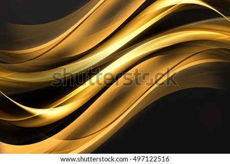 Awesome Business Website Concept Abstract Gold Waves Background Design