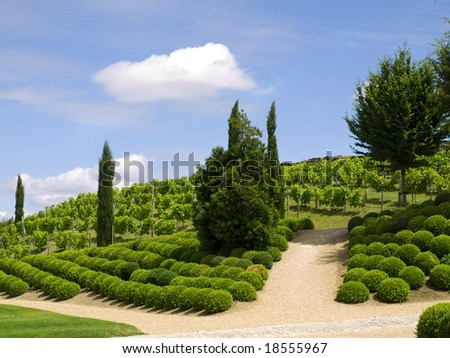 Awesome garden of Amboise Castle