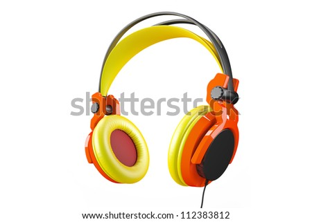 Awesome Headphones - stock photo